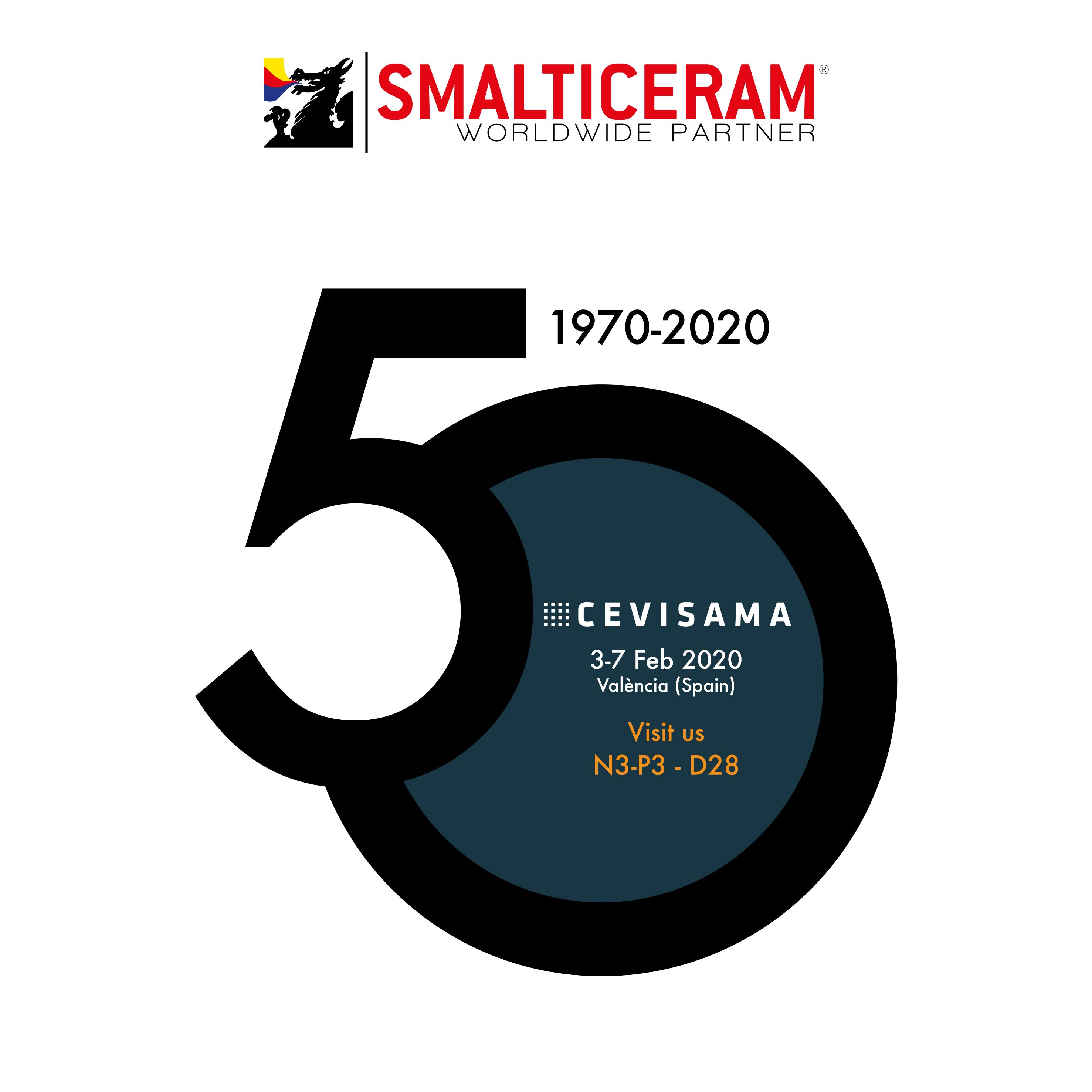 Smalticeram celebra su 50 aniversario en Cevisama 2020